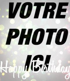 Joyeux anniversaire filtrer votre photo