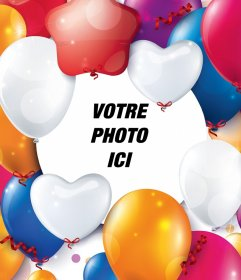 Effet photo avec des ballons de fête pour votre photo
