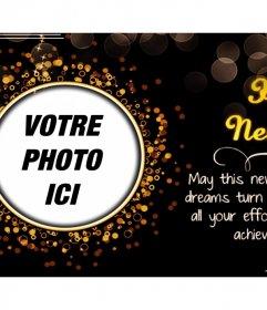 Carte personnalisable avec une belle phrase de Noël pour ajouter votre photo