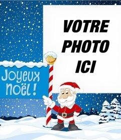 Effet photo avec le Père Noël pour votre photo