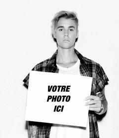 Justin Bieber effet photo de mettre votre photo