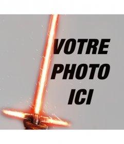 Effet de Photo de Kylo Ren sabre laser pour votre photo