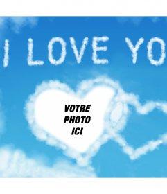Effet photo de nuages avec les mots I LOVE YOU