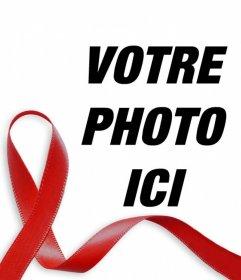 Ruban rouge contre le SIDA à mettre dans votre photo en ligne