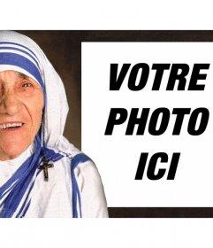 Effet photo de Mère Teresa de Calcutta pour télécharger votre photo