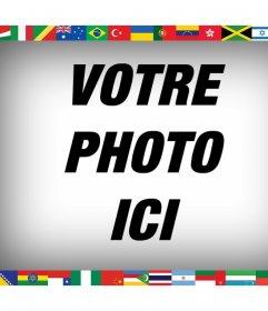 Tous les drapeaux du monde sur votre photo