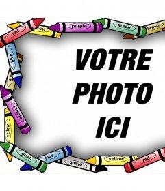 Cadre artistique pour vos photos avec des crayons de couleur