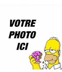 Homer Simpson dans un coin de vos photos avec cet effet