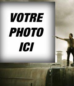 Photo pour effet de mettre votre photo avec le personnage principal de The Walking Dead
