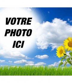 En ligne effet de modifier et dajouter votre image dans un paysage avec les marguerites