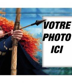 Caractère du film Brave avec son arc où vous pouvez modifier avec votre photo effet