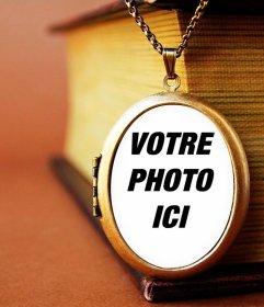 Votre photo dans un pendentif vintage avec ce photomontage