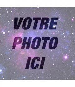 Effet photo de lUnivers à mettre sur votre photo de filtre en ligne de lUnivers à mettre sur votre image de profil gratuitement. Effet parfait pour votre photo Facebook
