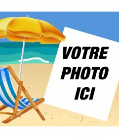 Si vous aimez la plage puis téléchargez votre photo pour décorer