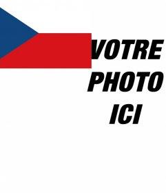 Effet photo pour mettre le drapeau de la République tchèque dans le coin de votre photo