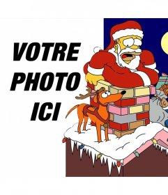 Noël effet photo de The Simpsons pour télécharger une photo