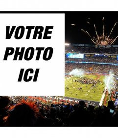 Téléchargez votre photo à cet effet dans le cas de Super Bowl