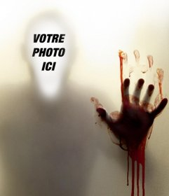 Montage photo pour mettre votre visage dans une ombre sanglante