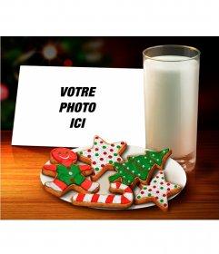 Collage de Noël pour mettre votre photo avec Gingerbread cookies