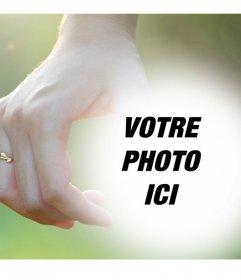 Photomontages modifiable avec un couple tenant les mains avec des anneaux