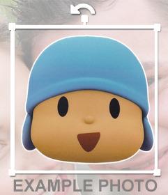 Autocollant de Pocoyo visage pour ajouter partout sur vos photos
