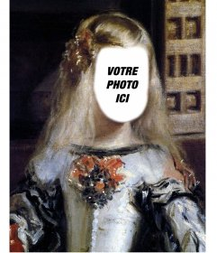 Photomontage de limage de linfante Margarita Velazquez pour placer votre visage