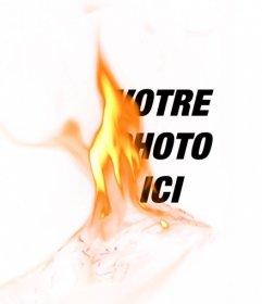 Photomontage avec un filtre avec une flamme jaune du feu pour mettre vos photos et créer des effets incroyables