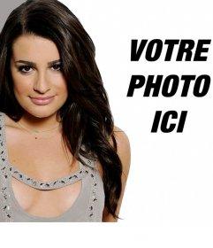 Montage photo avec Lea Michelle, actrice de Glee