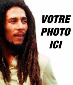 Créer un photomontage avec Bob Marley par votre côté chargement dune image en ligne et en ajoutant une phrase libre