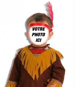 Mettez un visage sur un enfant indien avec ce photomontage en ligne. effet original