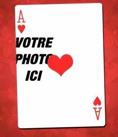 Photo Frame avec as de cœur que lassemblage