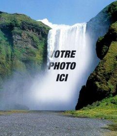 Photomontage avec des chutes d'eau pour mettre une photo en ligne