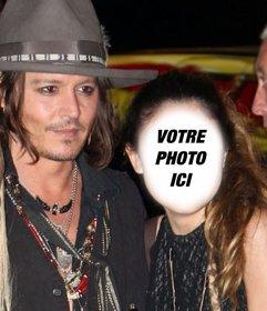 Photomontage avec Johnny Depp pour obtenir une photo avec lui et décrire un texte sur elle en ligne