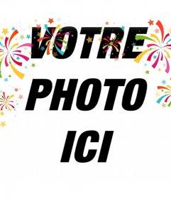 Décoratif effet photo avec des confettis de couleur pour vos photos