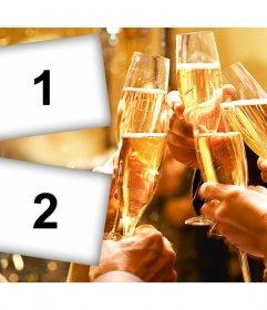 Effet photo dun toast entre amis que vous pouvez modifier avec deux photos