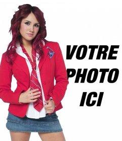 Photomontage avec Dulce Maria Rebelde en uniforme