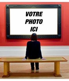 Photomontage de mettre votre image dans un musée dart, dans les yeux dun visiteur