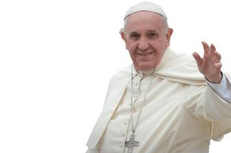 Photomontage dans lequel vous apparaissez avec le Pape francisco