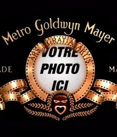 Photo montage pour mettre votre image dans le logo de la Metro Goldwyn Mayer