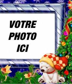 Cadre de Noël avec une photo denfance cadres pour mettre votre photo