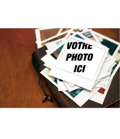 Créez utiles pour répondre à vos photos dans un cadre Polaroid, comme une montagne de photos souvenirs