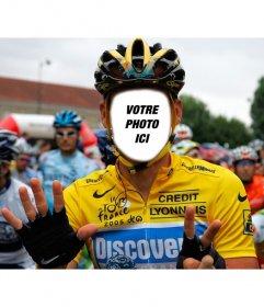 Créer un photomontage dun cycliste professionnel dans le Tour de France
