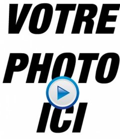 Montage photo pour faire une photo comme si cest une vidéo, en ajoutant licône PLAY pour votre photo