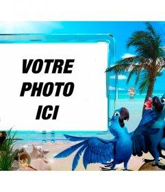 Photomontage dété de mettre votre photo sur une plage