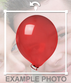 Autocollant dun ballon rouge brillant
