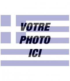 Photomontages créateur du drapeau de la Grèce avec une image que vous téléchargez