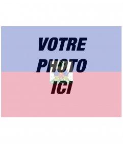 Photomontage en ligne de pavillon Haïti avec votre photo