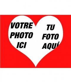 Effet photo pour mettre deux photos à l'intérieur d'un coeur