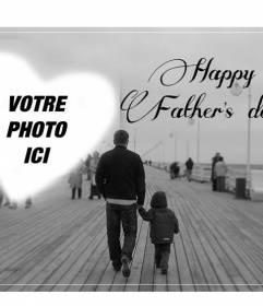 Carte postale pour féliciter la fête des pères