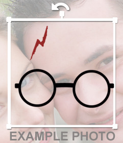 Autocollant avec les lunettes de Harry Potter et cicatrice